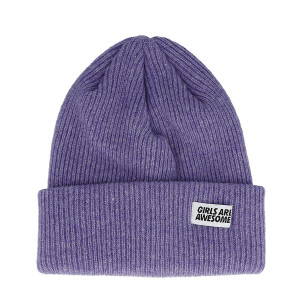 Girls Are Awesome Lambswool Merino Icon Beanie ( GAA-5-001U / Thistle )