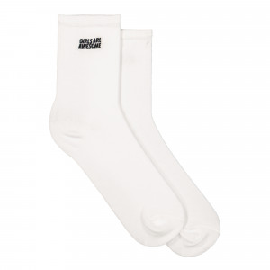 Girls Are Awesome Socks ( GAA-7-006W / White )