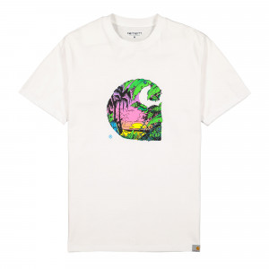 Carhartt WIP S/S Sunset C T-Shirt ( I027812.02.00.03 / White )