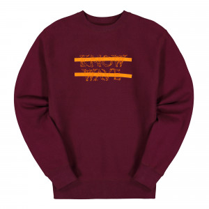 Know Wave Classic Anxiety Logo Crewneck ( KFA1993 / Red )