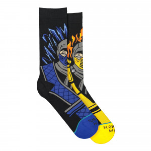 Stance Foundation Sub Zero vs Scorpion Socks ( M545C19SZV-BLK )