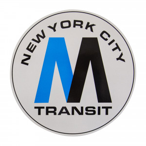 On The Run Magnet New York MTA Logo XXL
