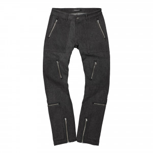 Midnight Studios Denim Cargo Slim Fit Jeans ( MS-04A-07-001 / Black )