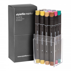 Stylefile Marker 12er Multi Set 35