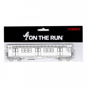 On The Run Magnet New York Subway White