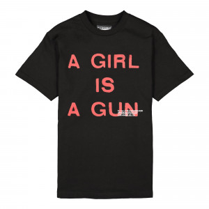 Pleasures Girl Is A Gun T-Shirt ( P17F101047B / Black )