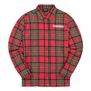 Pleasures Lawless Overshirt ( P19F109010 / Red )