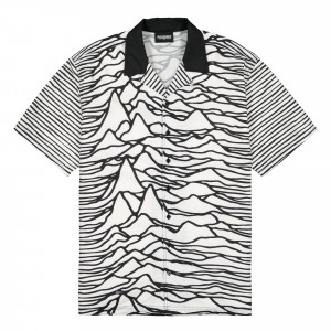 Joy Division x Pleasures Waves Short Sleeve Button Down ( P19JD005 / White )