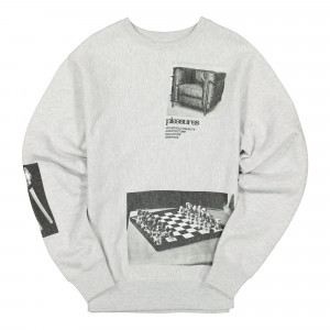 Pleasures Deco Premium Crewneck ( P19W003 / Ash Grey )
