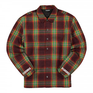 Pleasures Paradox Heavyweight Coaches Jacket ( P20F030 / Red )