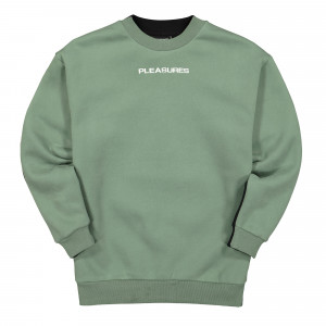 Pleasures Experience Blocked Crewneck ( P20SPCUT0019 / Olive / Black )