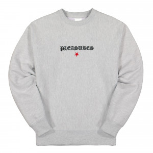 Pleasures Shine Premium Crewneck ( P20SU037 / Heather Grey )