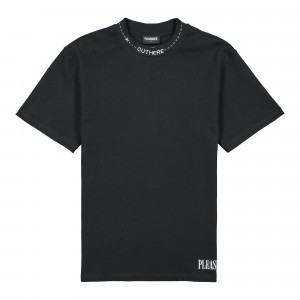 Pleasures Cut Here Heavy Weight Shirt ( P20W006 / Black )