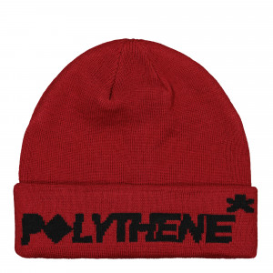 Polythene Optics Jaquard Logo Beanie ( PO-BE-01-BLK-RED )