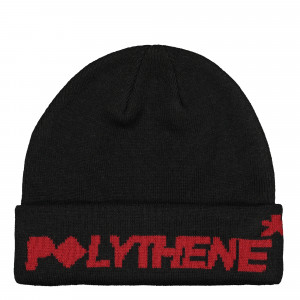 Polythene Optics Jaquard Logo Beanie ( PO-BE-01-RED-BLK )