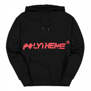 Polythene Optics Crewneck Hoodie with Pockets ( PO-HO-02-RED-BLK )