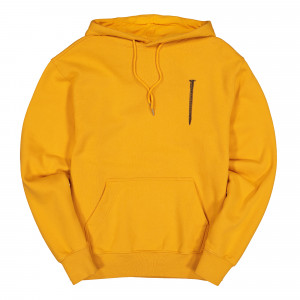 Polythene Optics Crewneck Hoodie with Pockets ( PO-HO-03-ORG-AMB )