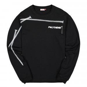 Polythene Optics Jersey Longsleeve ( PO-LS-03-WHT-BLK )