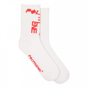 Polythene Optics Jaquard Socks ( PO-SO-01-RED-WHT )