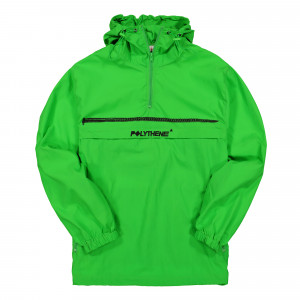 Polythene Optics Half Zip Windbreaker ( PO-WB-02-BLK-GRN )
