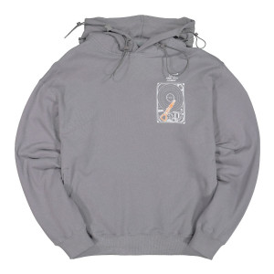 C2H4 Human Data Storage Blueprint Hoodie ( R000-024 / Slate Gray )