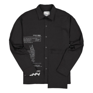 C2H4 Instruction Print Shirt ( R000-031 / Black )