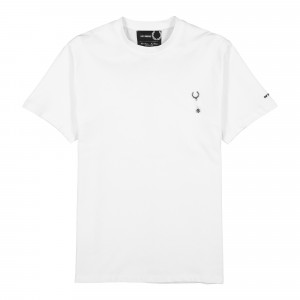 Raf Simons x Fred Perry Laurel Wreath Pin T-Shirt ( SM9039 / White )