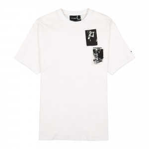 Raf Simons x Fred Perry Printed Patch T-Shirt ( SM9041 / White )