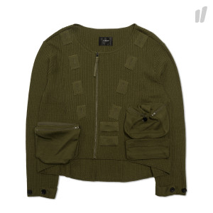 Nilmance No Collar Wool Coverall ( SS18KN-03 / Olive )