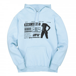 Used Future Body Hoodie ( UDF-HD-201-SB / Sky Blue )