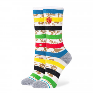 Stance Wmns Petal Power Crew Socks ( W545B20PET-WHT )