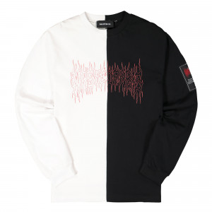 Wasted Paris Bicolor Fire II Longsleeve ( White / Black )