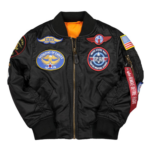 Alpha Industries MA-1 Patch Youth Jacket ( 103712 / 03 / Black )
