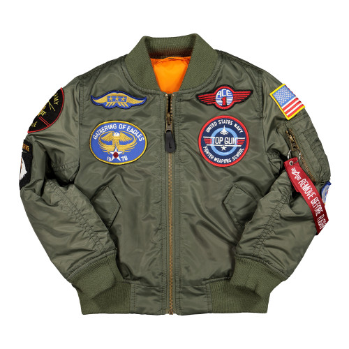 Alpha Industries MA-1 Patch Youth Jacket ( 103712 / 01 / Sage Green )