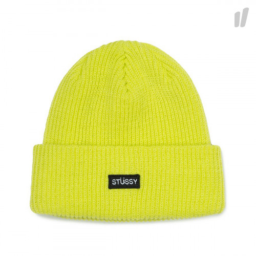 Stussy Small Patch Watch Cap Beanie ( 132904 / 0300 / Neon Yellow )