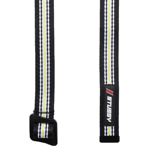 Stussy Striped Climbing Web Belt ( 135157 / 0001 / Black )