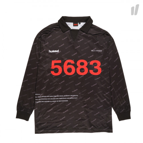 Willy Chavarria x Hummel Player Jersey L/S ( 203-820-2001 / Black )
