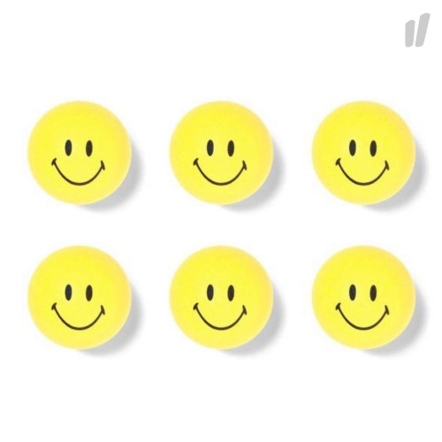 Chinatown Market Ping Pong Balls Smiley ( CTM-PPB / Yellow / 6 Pack )