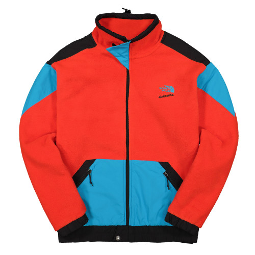 The North Face 90 Extreme Full Zip Fleece Jacket ( NF0A4AGKLKD1 / Fiery Red )