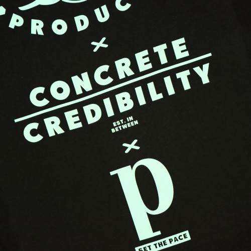 Pacemaker Concrete Credibility Slogan Tee ( PCCS1 / Black / Ocean Green )