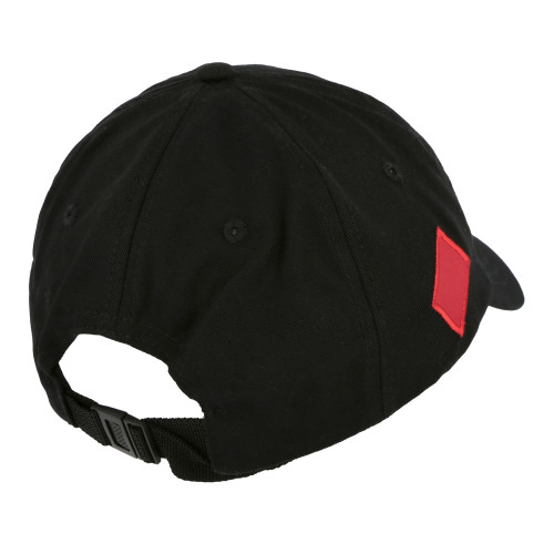 Polythene Optics Embroidered Logo Cap ( PO-CA-01-RED-BLK )