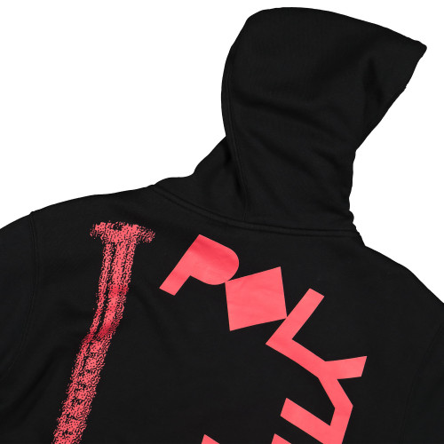 Polythene Optics Crewneck Hoodie with Pockets ( PO-HO-03-RED-BLK )