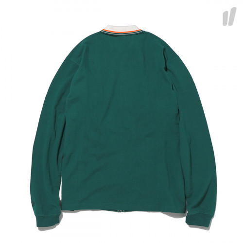thisisneverthat Zip Up Longsleeve Polo ( TN18SSH011GNL / Green )